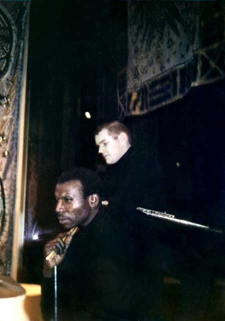 Elvin Jones and Fred Tompkins in 1968